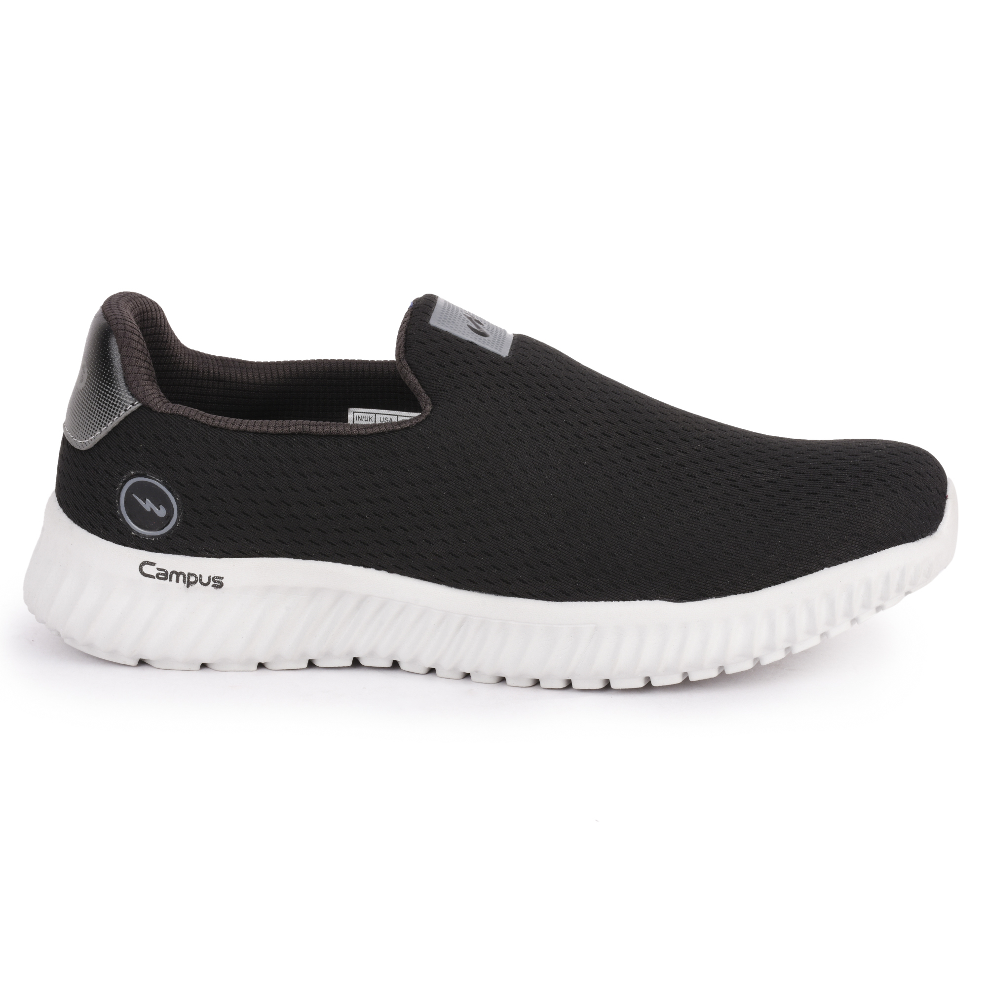 Campus Shoes | Black Oxyfit Pro Casual Slip-ons
