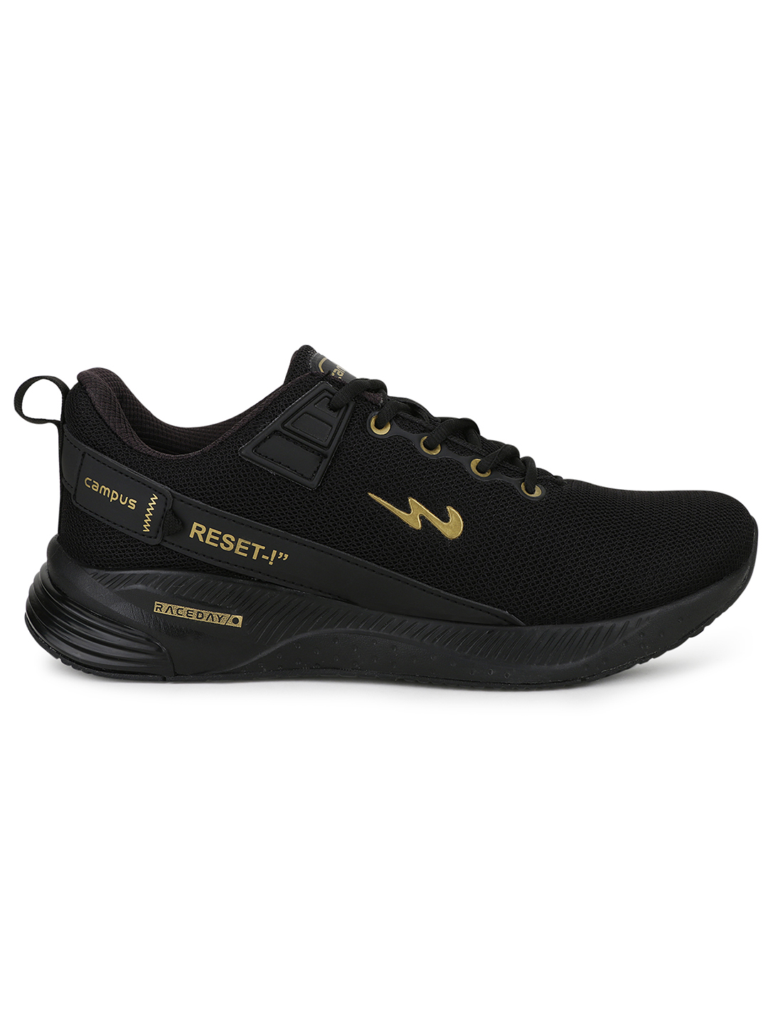 Campus Shoes | Black Refresh Pro Running Shoes