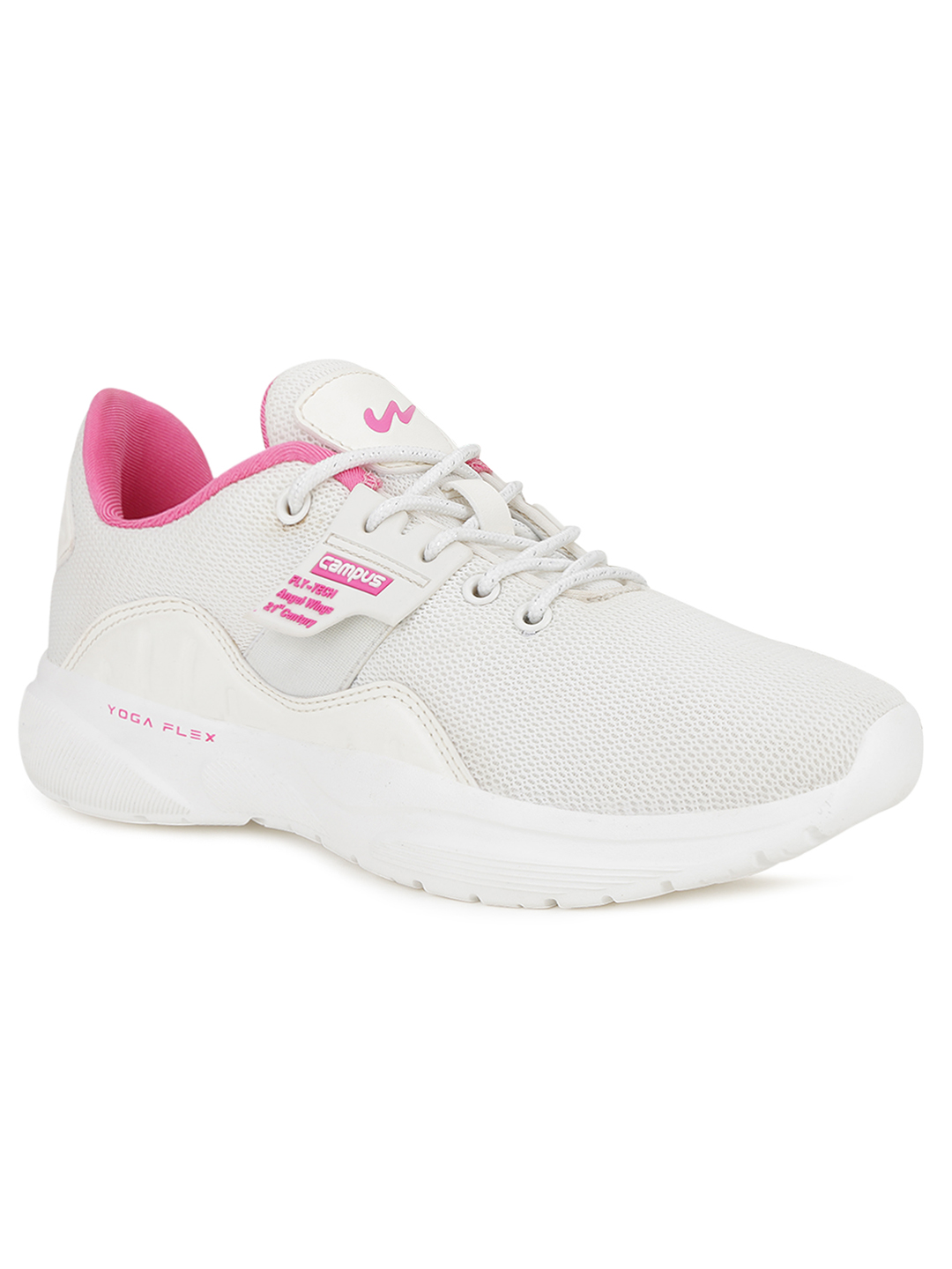 Campus Shoes | White Claire Running Shoes
