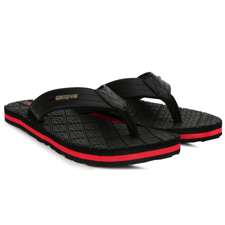 Campus Shoes | Black Flip Flops