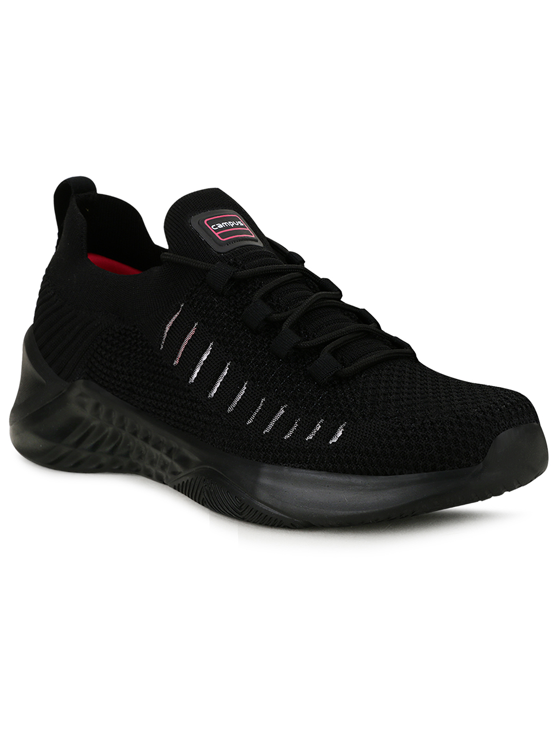 Campus Shoes | Black Matty Running Shoes