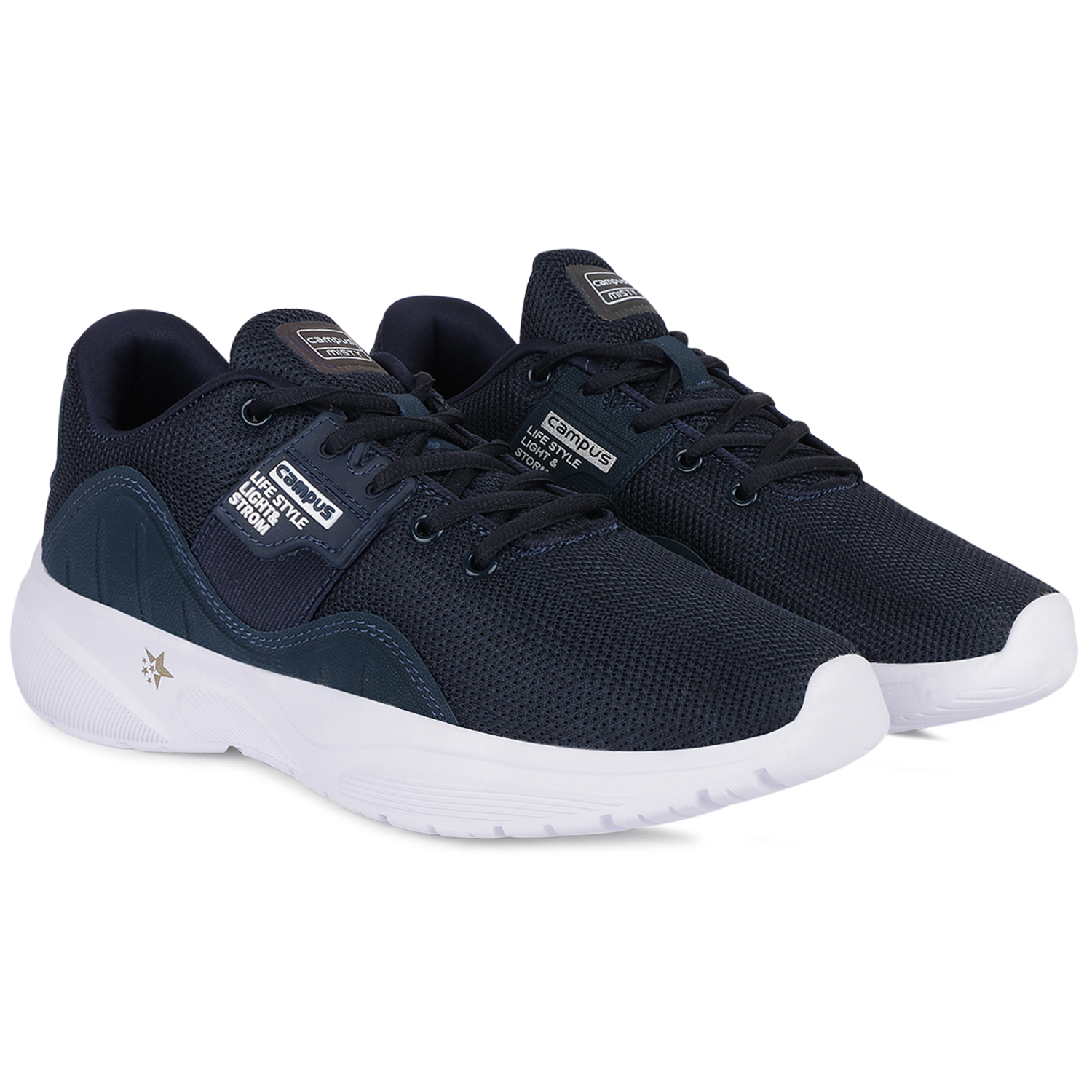 Campus Shoes   Blue Misty Running Shoes