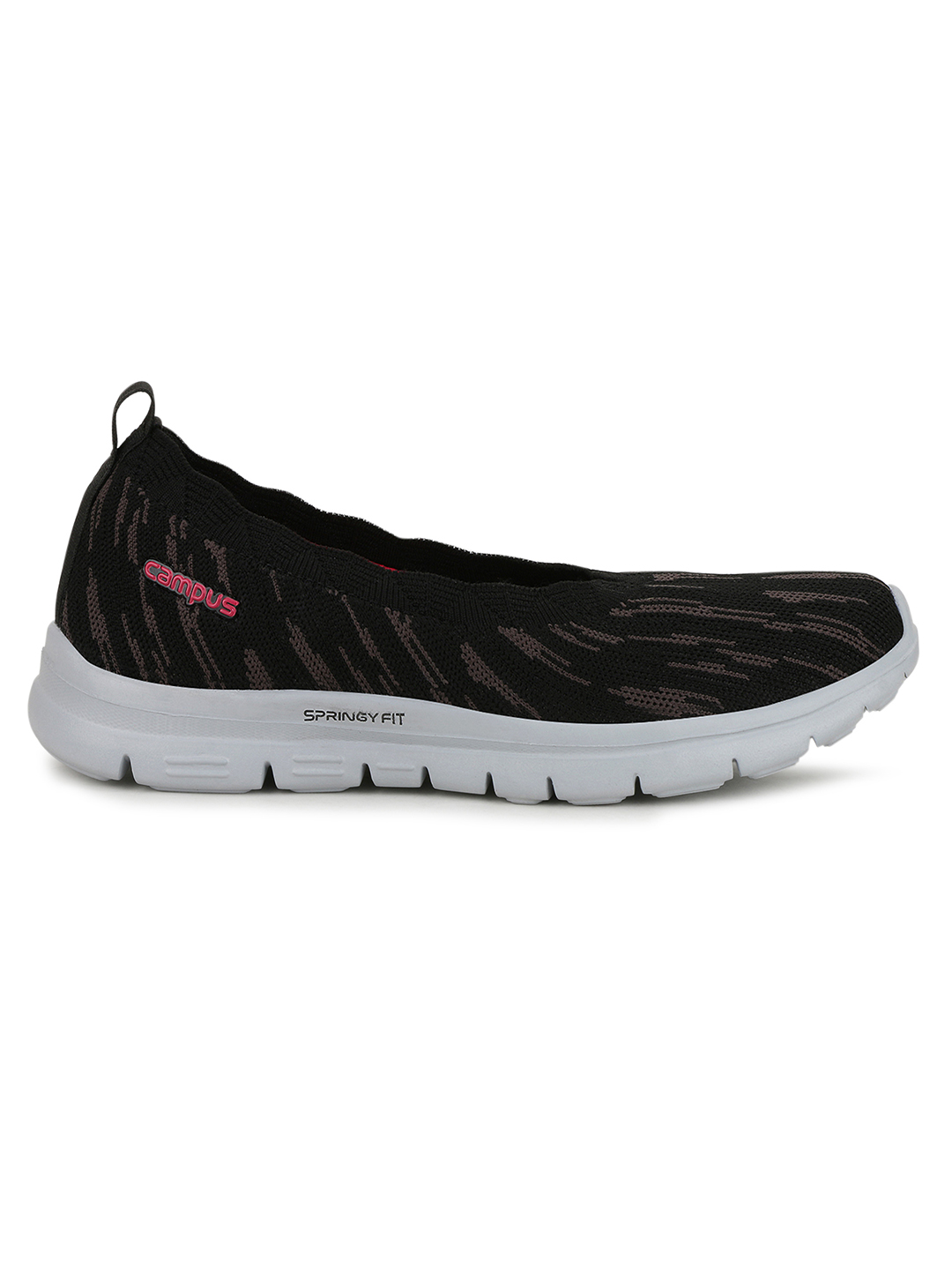 Campus Shoes | Black Niomi Running Shoes