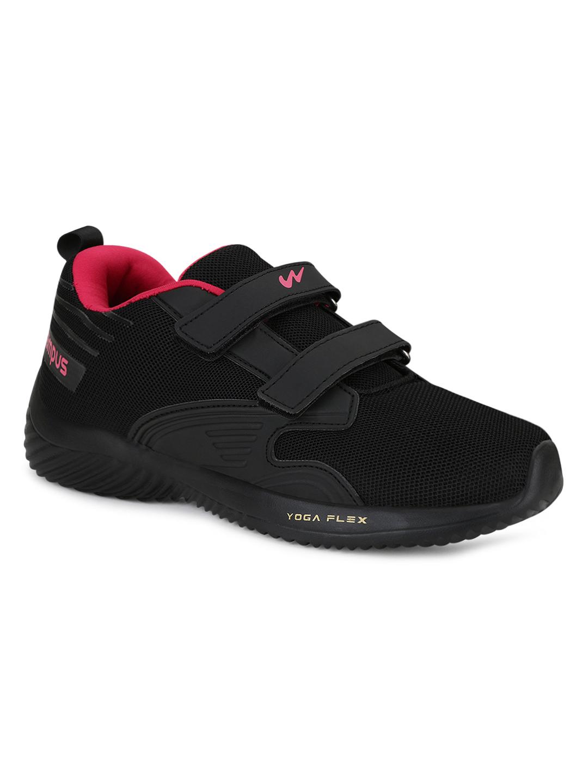 Campus Shoes | Black Noor Plus Running Shoes