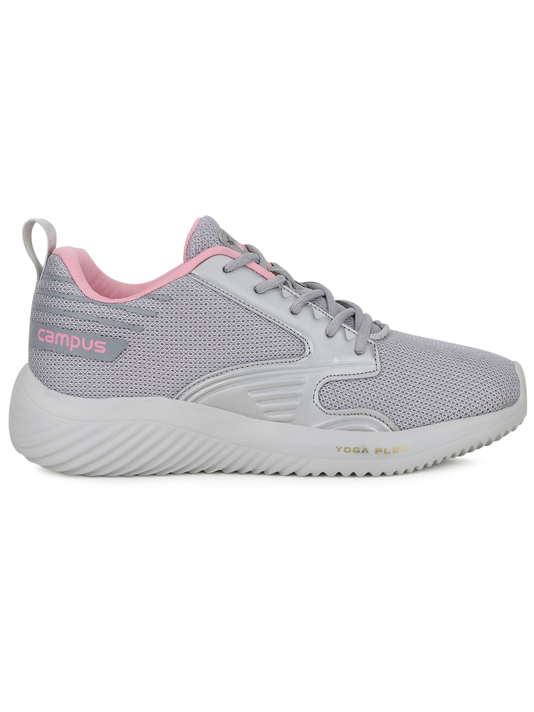 Campus Shoes | Grey Noor Plus Running Shoes