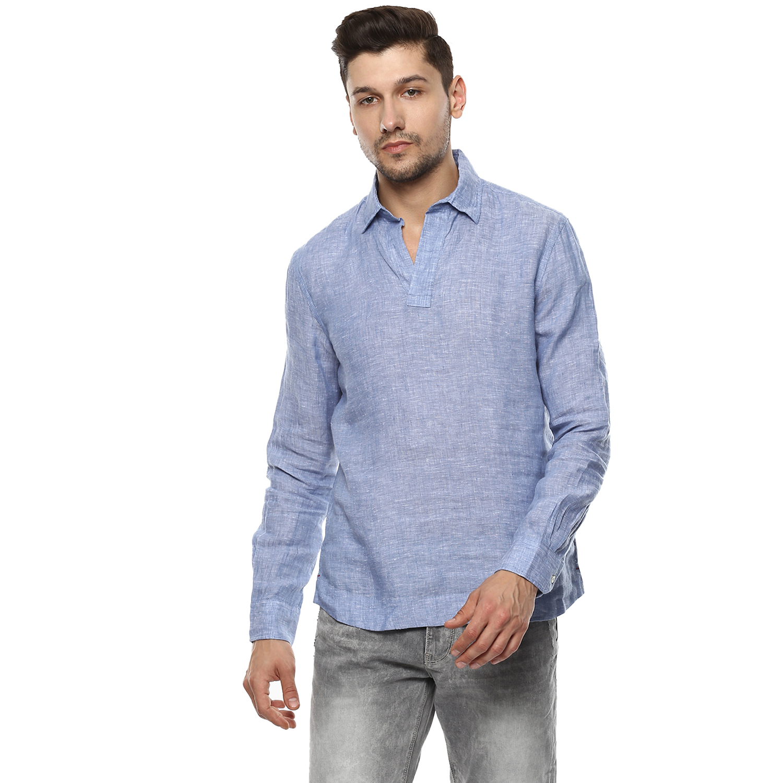 celio   100% Linen Regular Fit Casual Shirts