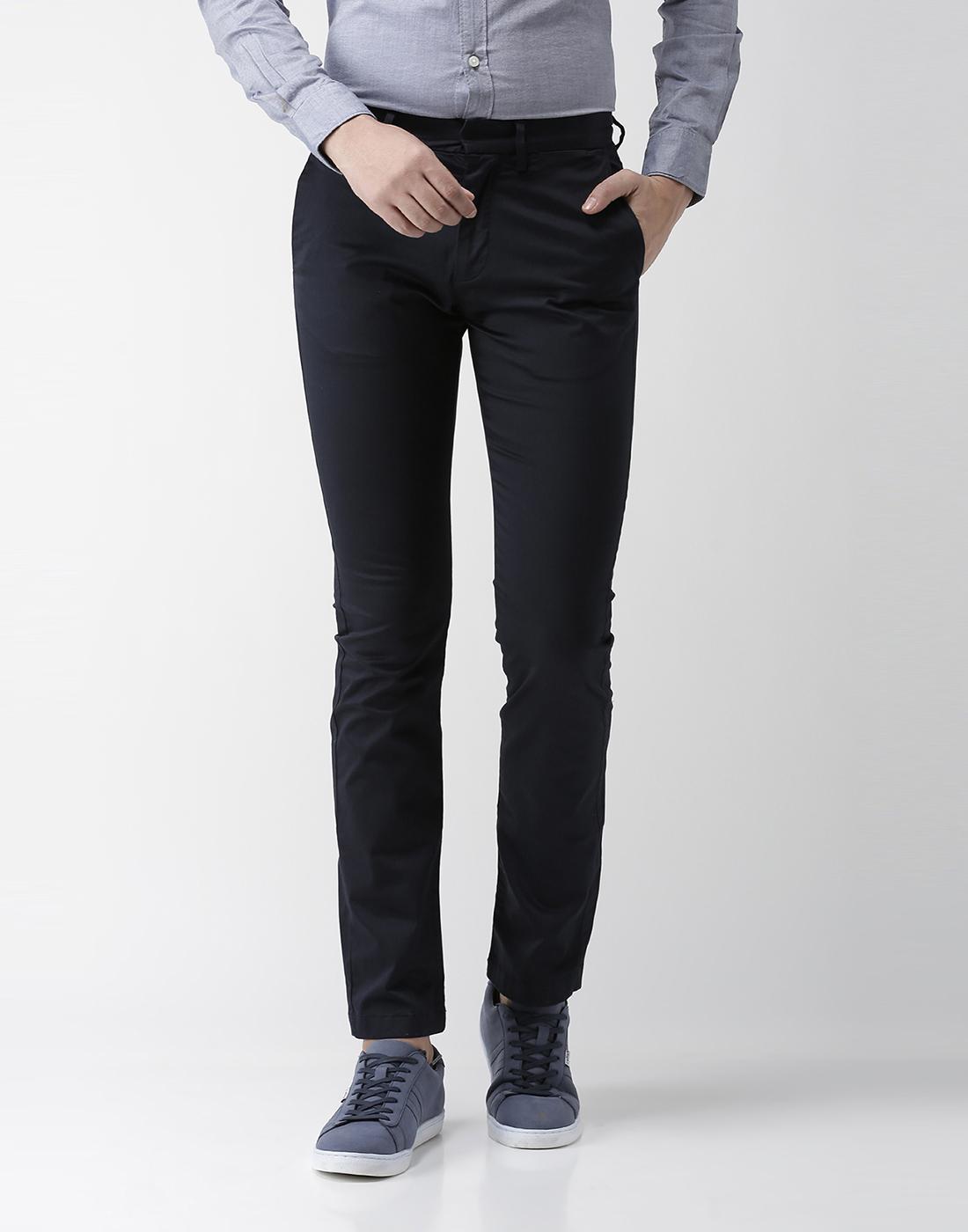 celio | Slim Fit Cotton Blend Navy 01 Trouser