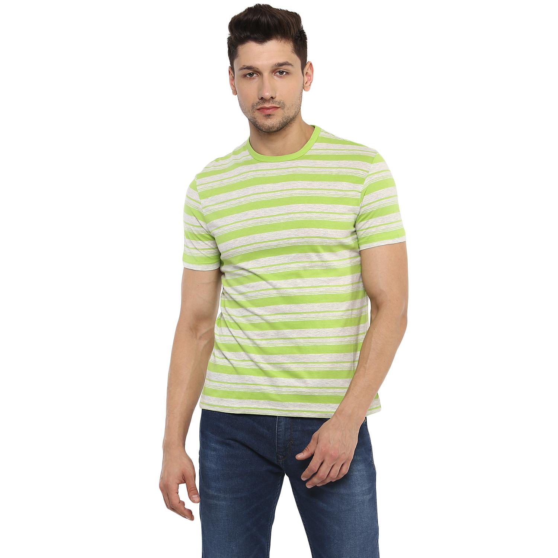celio | Striped  Green T-Shirts