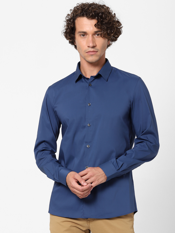celio | Blue Slim Fit Formal Shirt