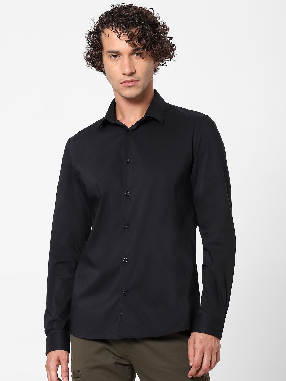 celio   Black Slim Fit Formal Shirt