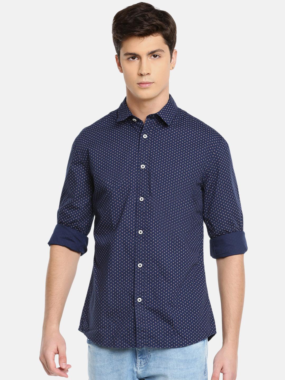 celio | Magic Wash Slim Fit Navy Shirt