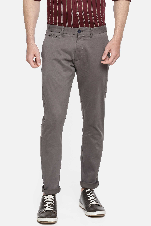 celio | Slim Fit Cotton Blend Grey Trouser