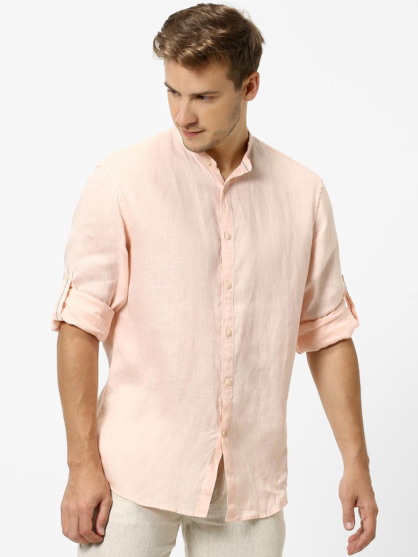 celio |  100% Linen Beige Casual Shirts
