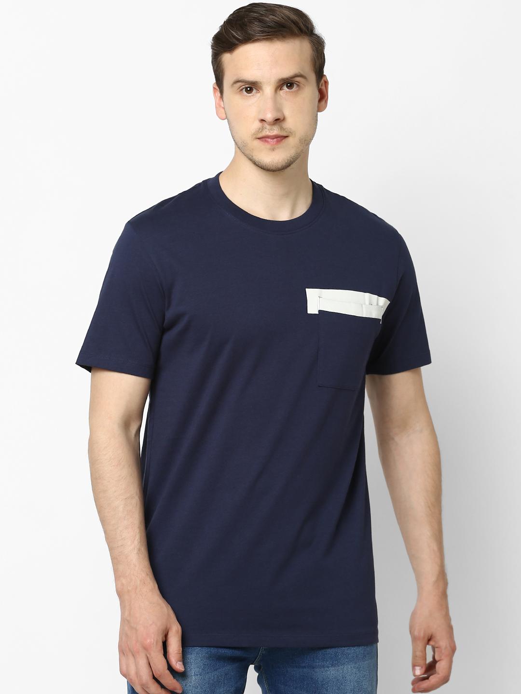 celio   100% Cotton Regular Fit Navy T-Shirt