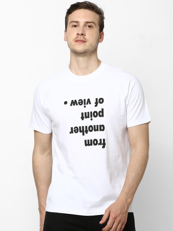 celio   100% Cotton Round Neck White T-shirt