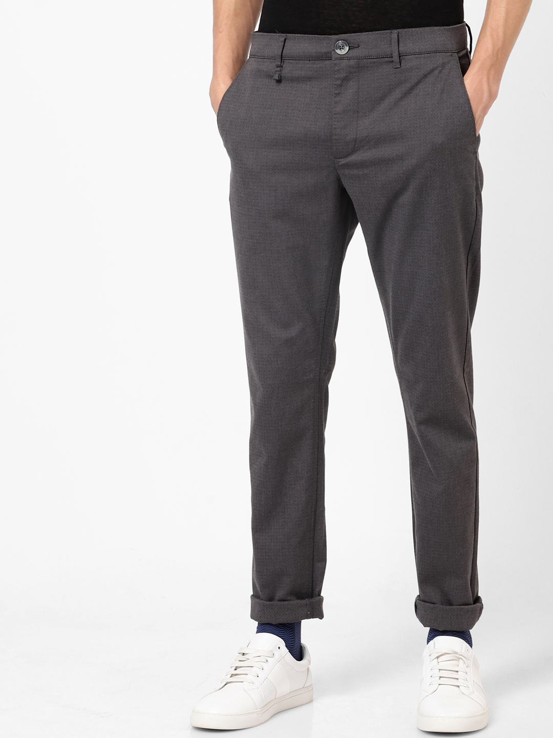 celio   Skinny Fit Charcoal Trouser