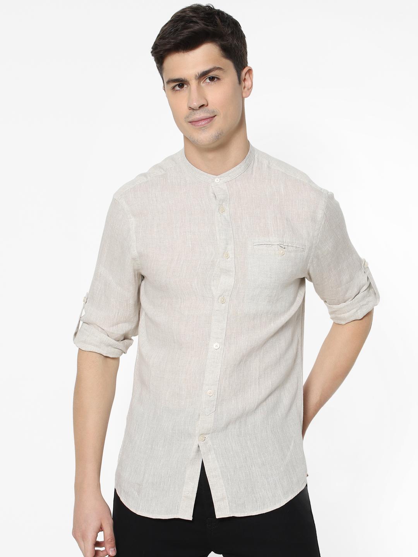 celio | 100% Linen Naturel Shirt