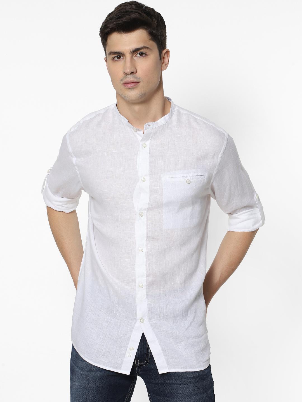 celio | 100% Linen White Shirt