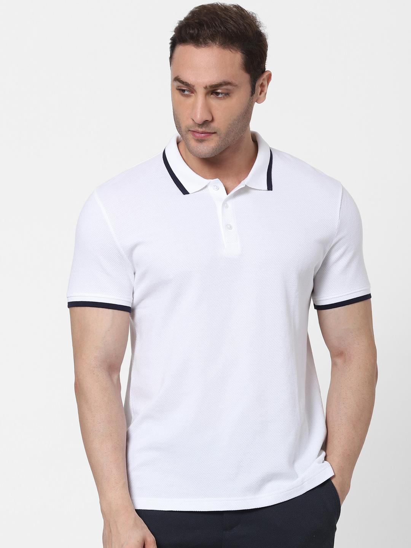 celio | White Straight Fit Polos