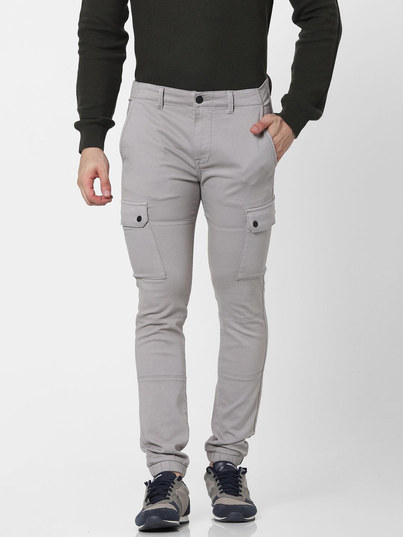 celio | Slim Fit Grey Cargo Pants