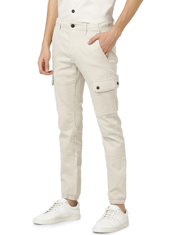 celio | Regular Fit Cotton Blend Beige Trouser