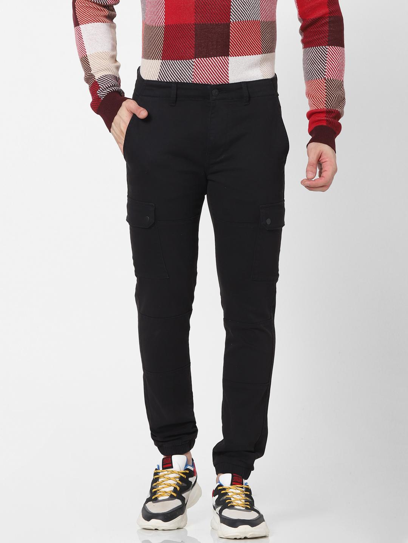 celio | Slim Fit Black Cargo Pants