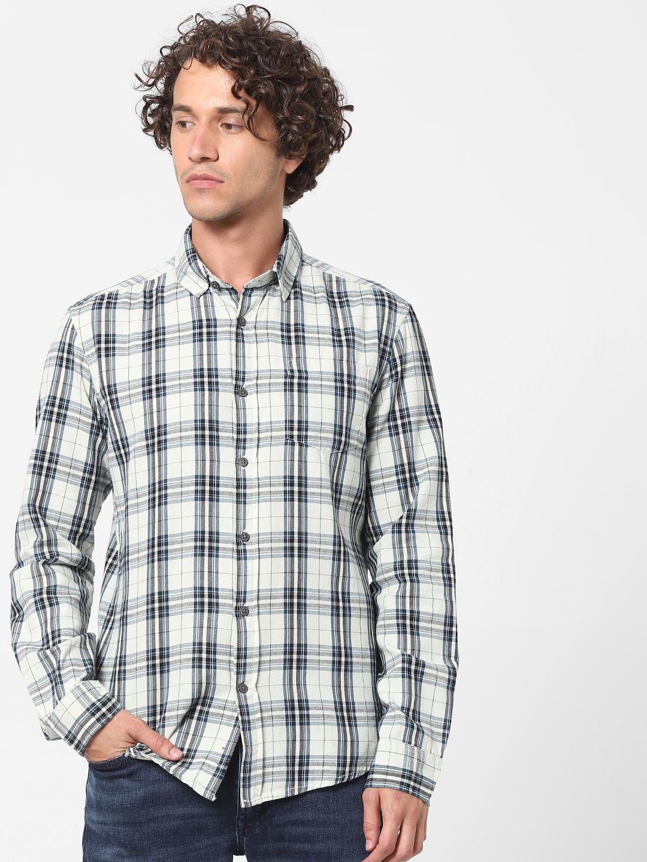 celio | Regular Fit White Casual Shirt