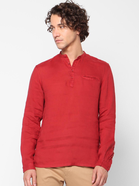 celio | 100% Linen Regular Fit Casual Shirts