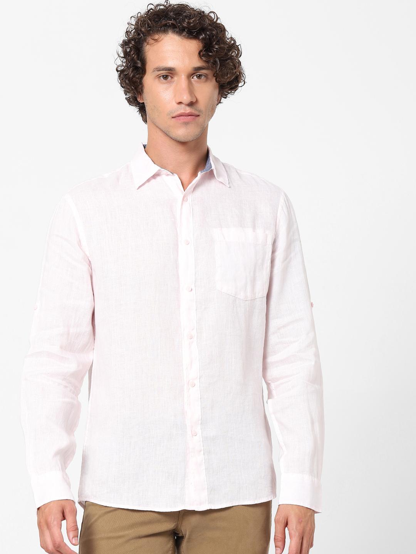 celio | 100% Linen Pink Shirt
