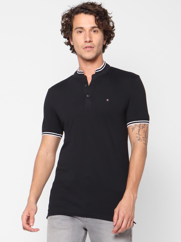 celio | Slim Fit Black Polo T-Shirt