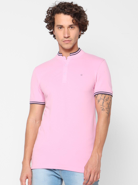 celio | Slim Fit Pink Polo T-Shirt