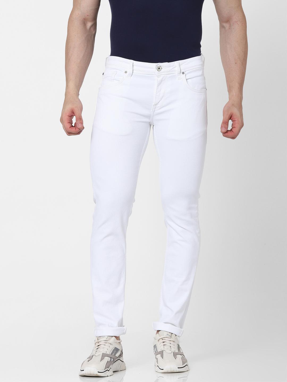 celio | Slim Fit White Jeans