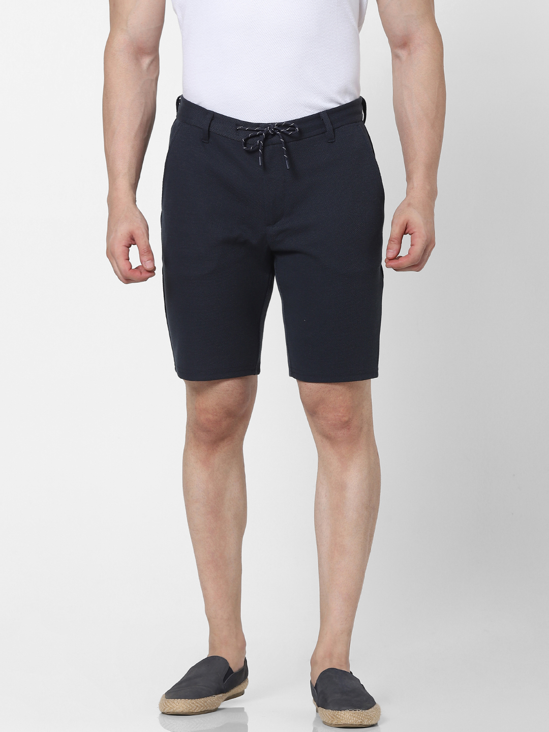 celio | Regular Fit Blue Knitted Shorts