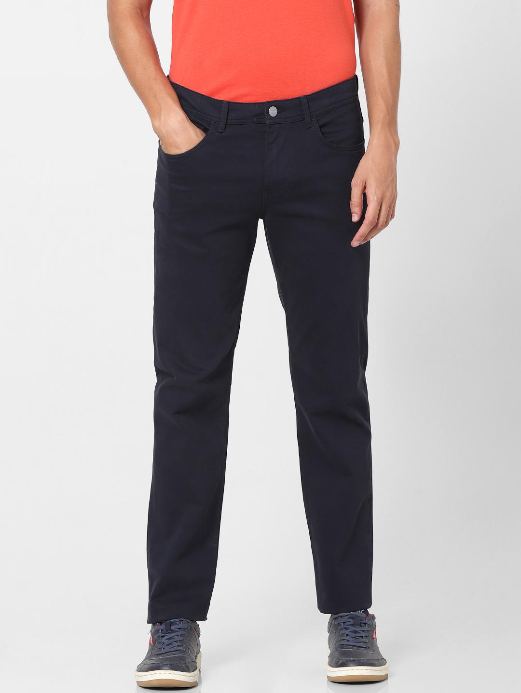 celio | Slim Fit Solid Casual Pants