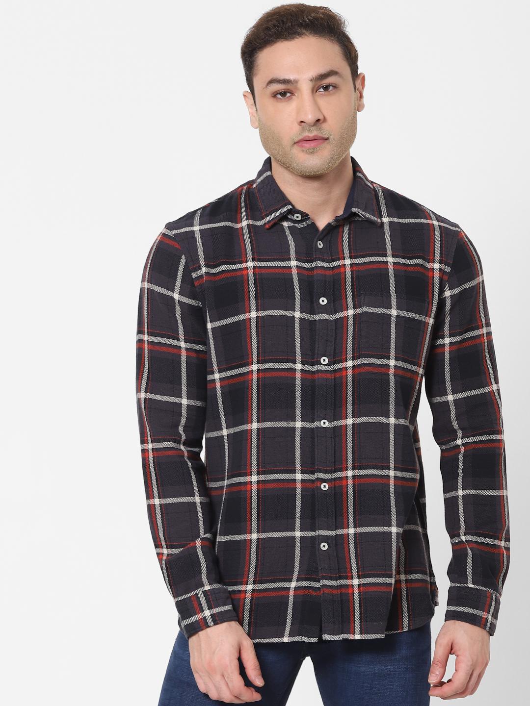 celio   Grey Checked Shirt