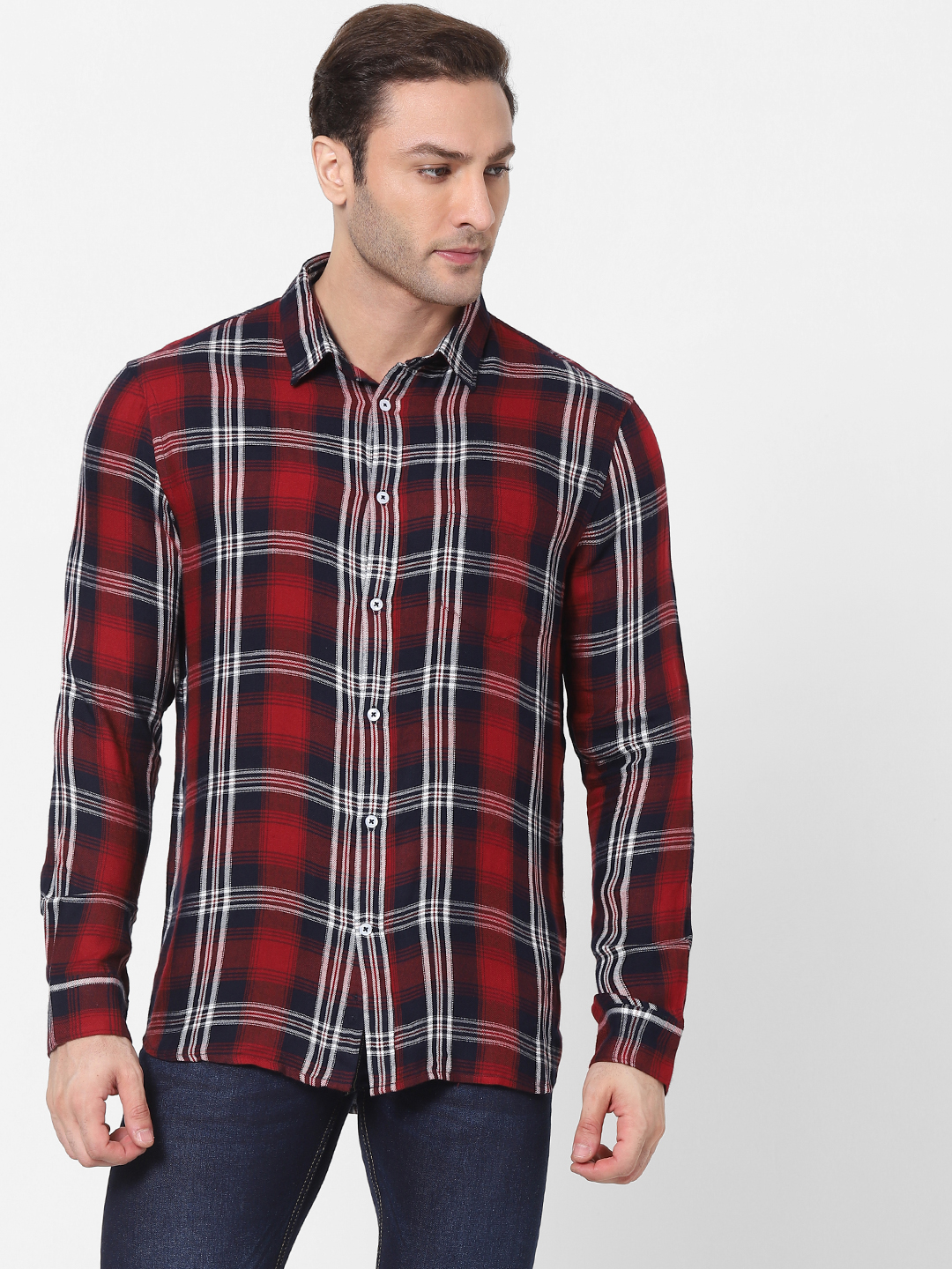 celio | Red Checked Shirt