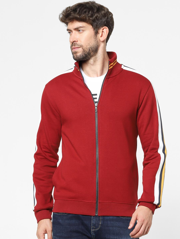 celio | Red Solid Turtle Neck Sweatshirt