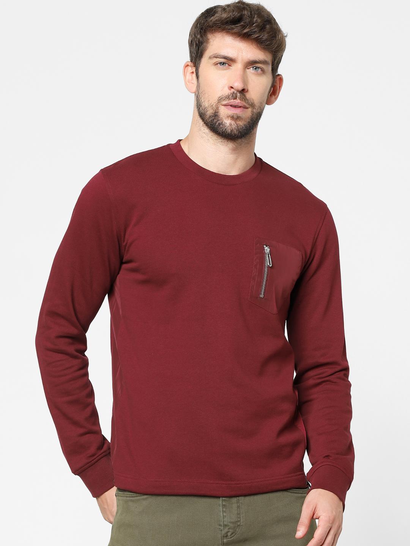 celio   Red Patch Pocket Sweatshirts