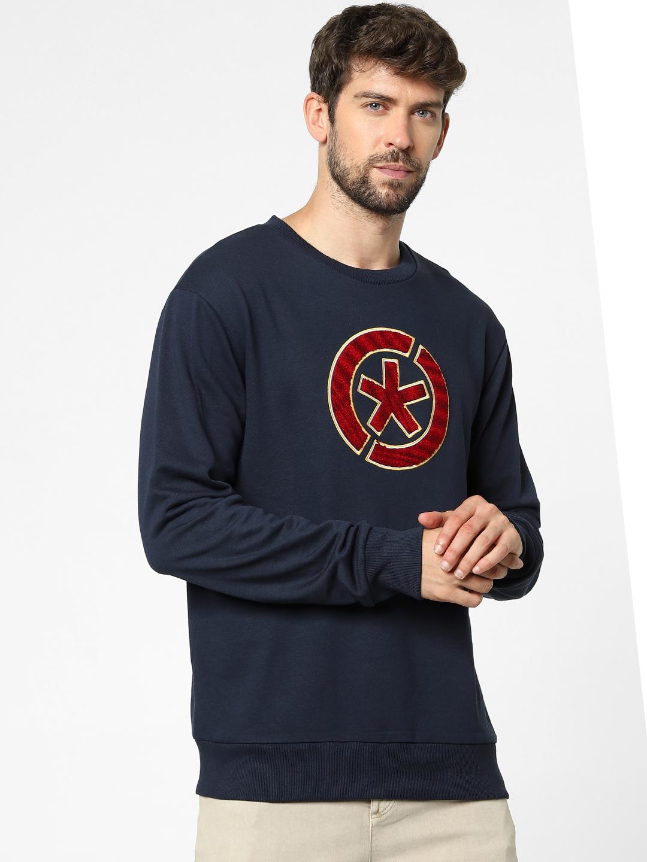 celio | Blue Regular Fit Sweatshirts