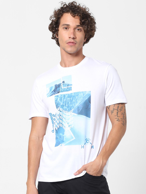 celio   100% Cotton Chest Printed T-shirt