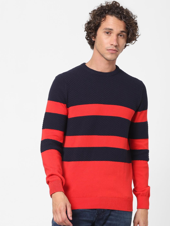 celio   100% Cotton Blue Crew Neck Jumper Sweater