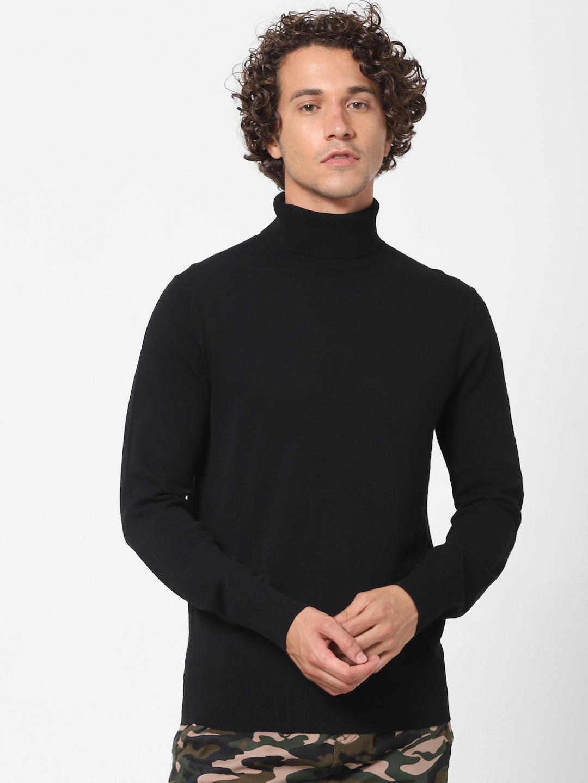 celio | Black Turtle Neck Sweater