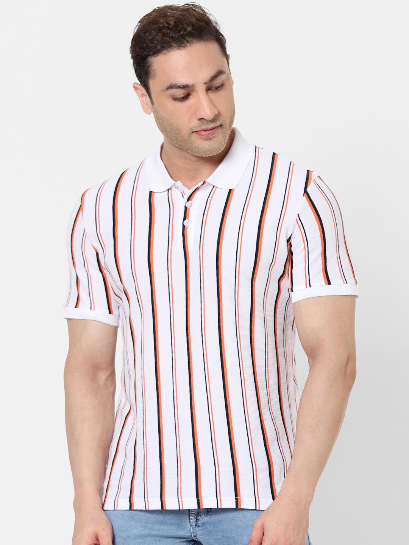 celio | 100% Cotton White Polo T-shirt
