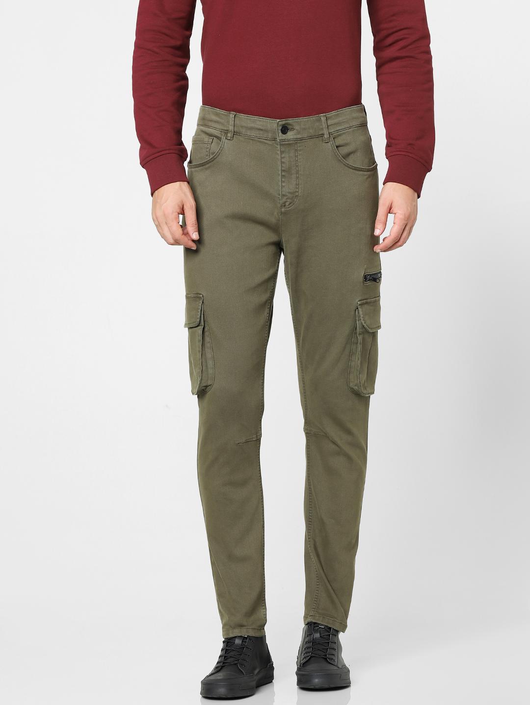 celio   Green Skinny Fit Cargo Pants