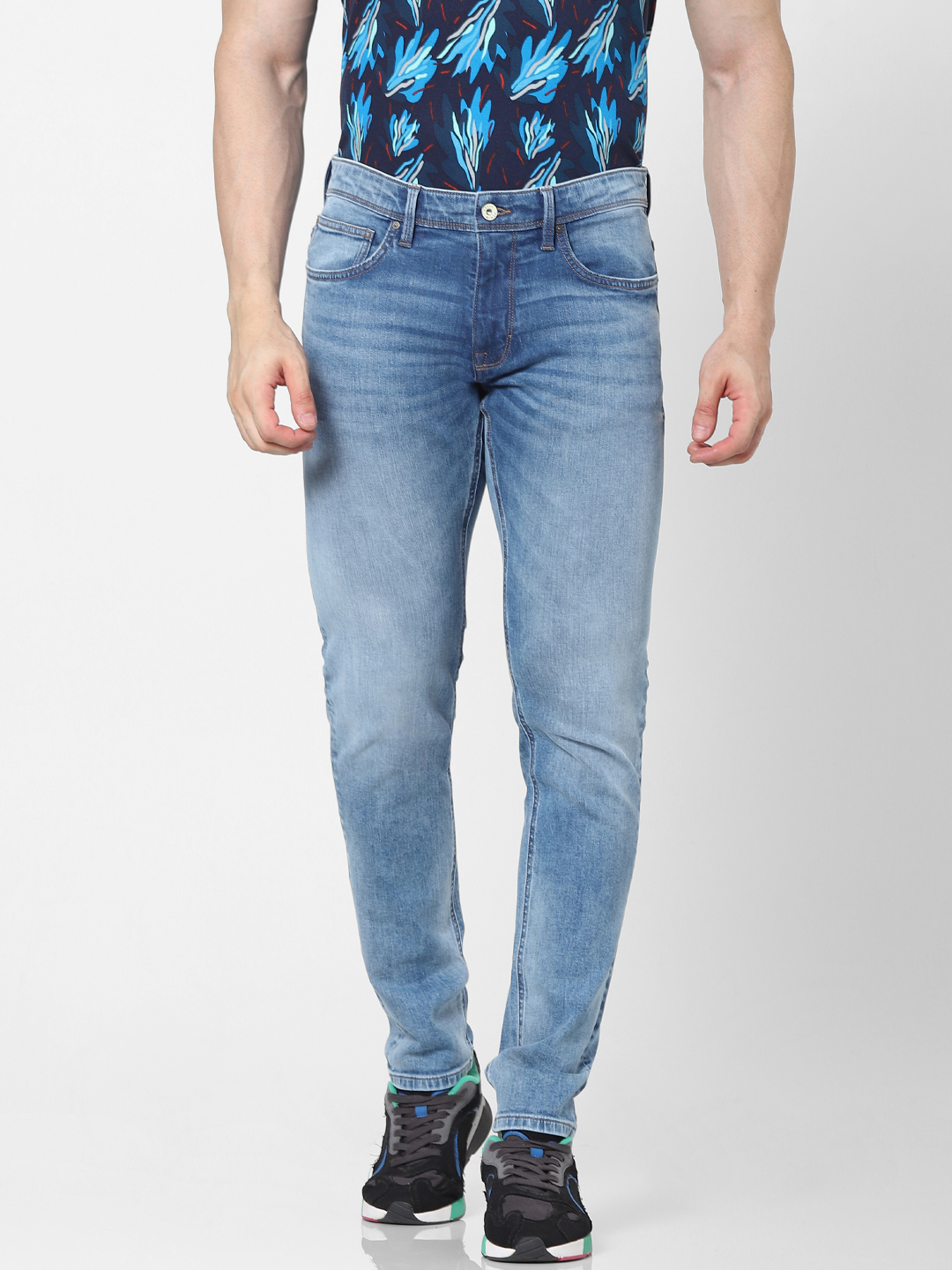 celio   Skinny Fit Double Stone Washed Jeans