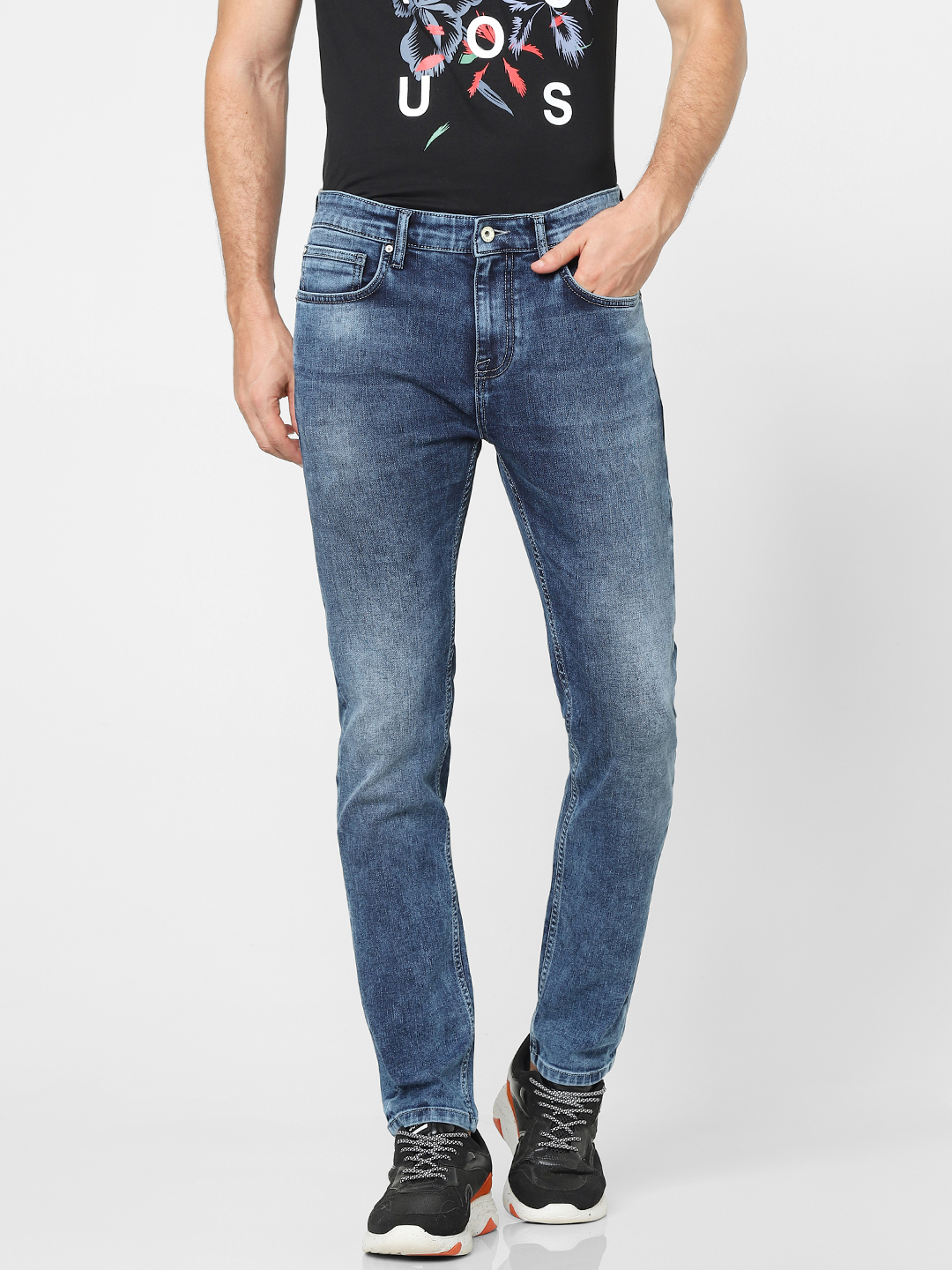 celio | Tapered Fit Blue Jeans