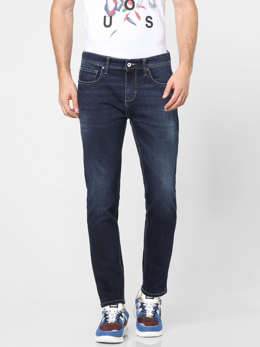 celio | Tapered Fit Double Stone Washed Jeans