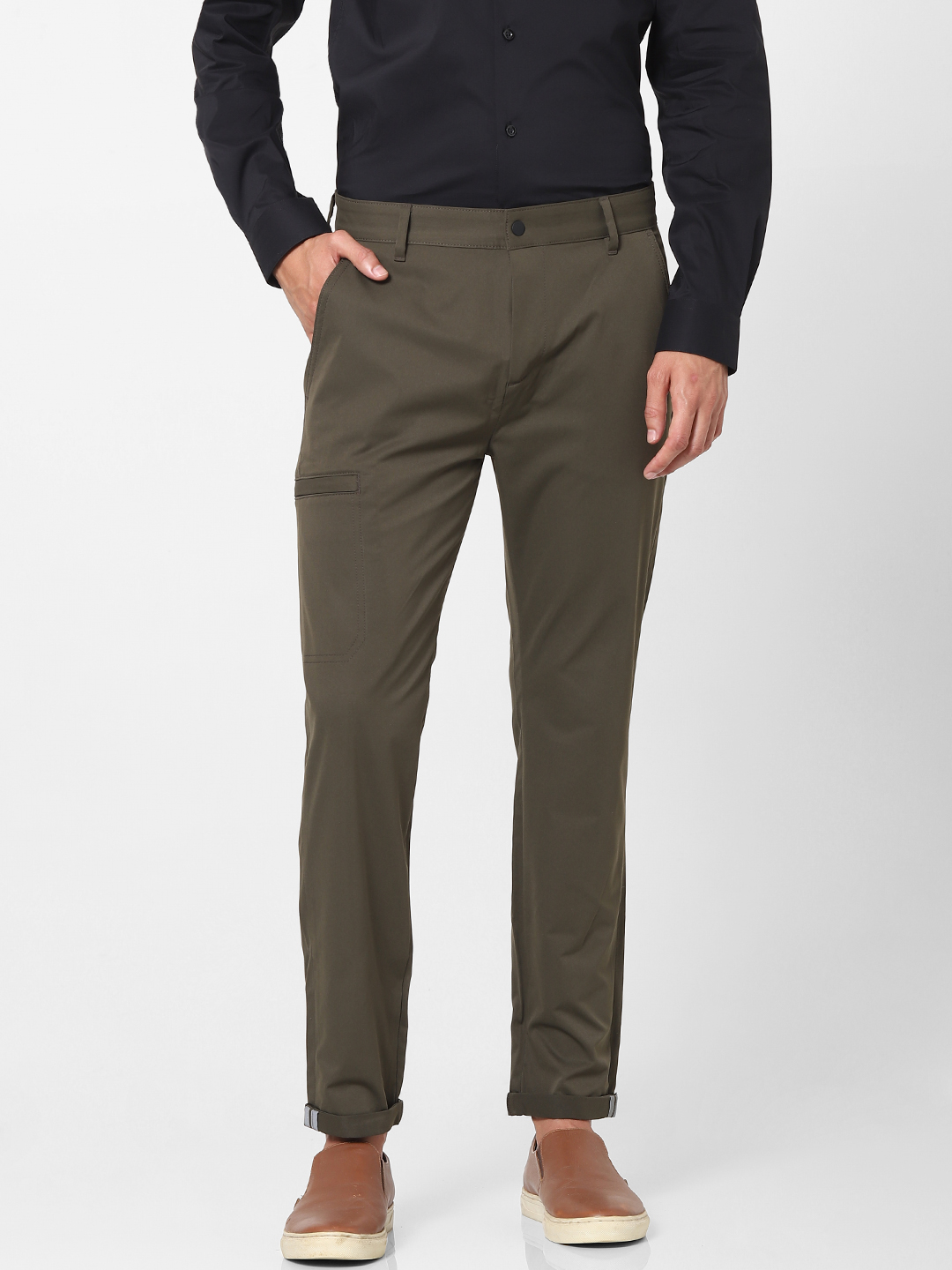 celio   Carrot Fit Green Chinos