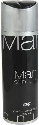 CFS | CFS Man only Black Deodorant Spray - For Men  (200 ml)