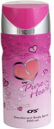 CFS | CFS Pure Heart Pink Deodorant Body Spray- For Women  (200 ml)